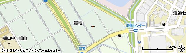静岡県静岡市葵区豊地周辺の地図