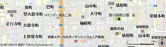 京都府京都市中京区松屋町周辺の地図