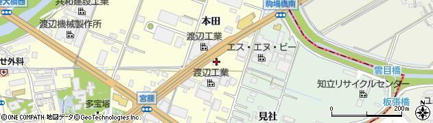 愛知県知立市西町(本田)周辺の地図