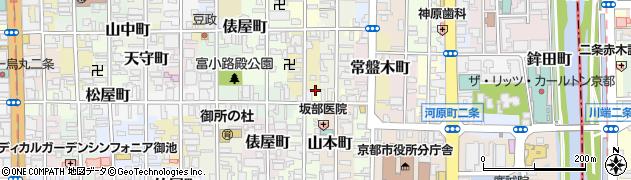 京都府京都市中京区丁子屋町周辺の地図