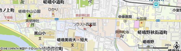 京都府京都市右京区嵯峨明星町周辺の地図