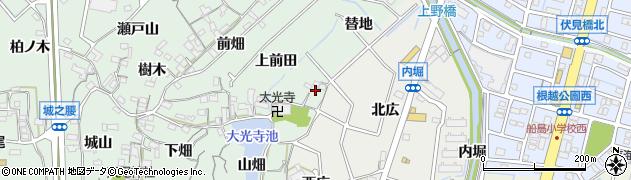 愛知県東海市大田町(替地)周辺の地図