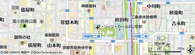 京都府京都市中京区清水町周辺の地図