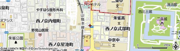 京都府京都市中京区西ノ京小堀町周辺の地図