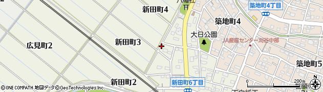 愛知県刈谷市新田町周辺の地図