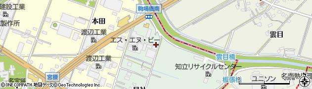 愛知県知立市山屋敷町(板張)周辺の地図