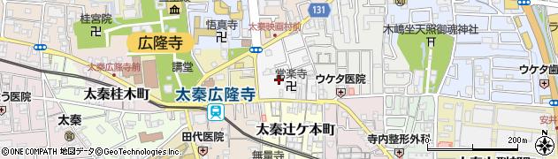 京都府京都市右京区太秦垣内町周辺の地図