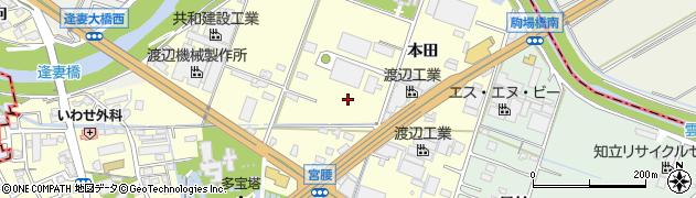愛知県知立市西町周辺の地図