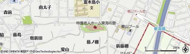 愛知県東海市富木島町(藤ノ棚)周辺の地図