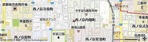 京都府京都市中京区西ノ京内畑町周辺の地図