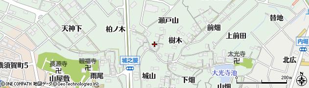 愛知県東海市大田町(瀬戸山)周辺の地図