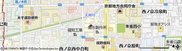 京都府京都市中京区西ノ京南上合町周辺の地図