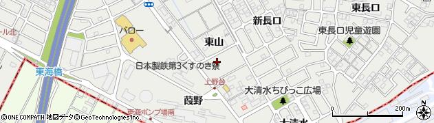 愛知県東海市富木島町(東山)周辺の地図