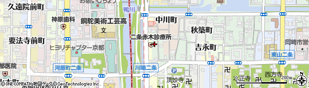 京都府京都市左京区新先斗町周辺の地図