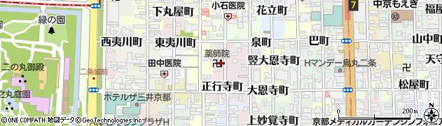 京都府京都市中京区大黒町周辺の地図