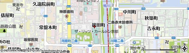 京都府京都市中京区鉾田町周辺の地図