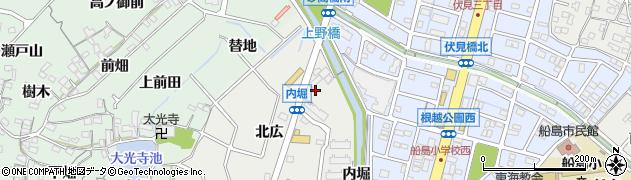 愛知県東海市富木島町(内堀)周辺の地図