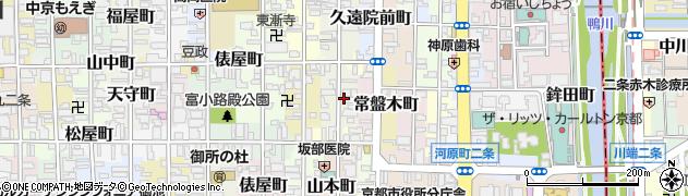 京都府京都市中京区達磨町周辺の地図