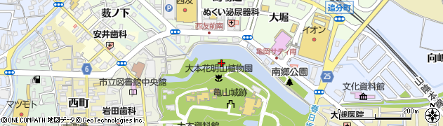 京都府亀岡市南郷町周辺の地図
