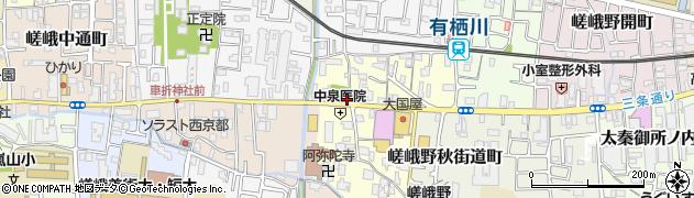 京都府京都市右京区嵯峨野宮ノ元町周辺の地図