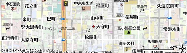 京都府京都市中京区夷町周辺の地図