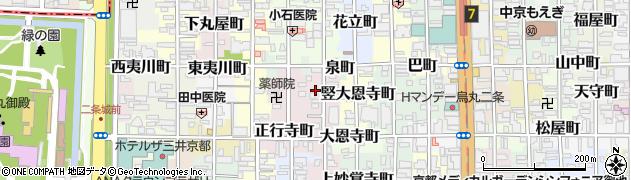 京都府京都市中京区二条新町周辺の地図