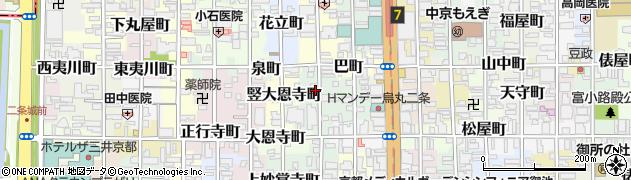 京都府京都市中京区冷泉町周辺の地図