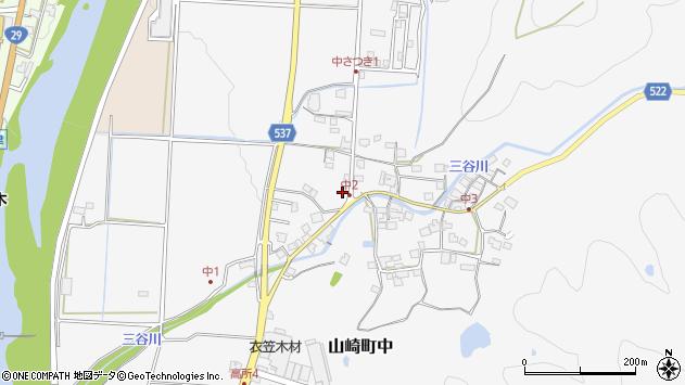〒671-2531 兵庫県宍粟市山崎町中の地図