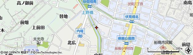 愛知県東海市富木島町(砂ノ間)周辺の地図