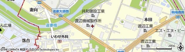 愛知県知立市西町(宮後)周辺の地図