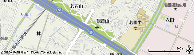 愛知県豊田市花園町(観音山)周辺の地図