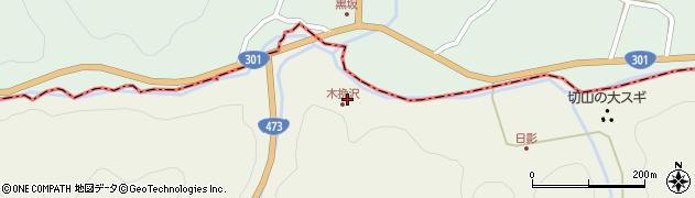 愛知県岡崎市切山町(木挽沢)周辺の地図