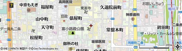 京都府京都市中京区布袋屋町周辺の地図