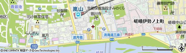 京都府京都市右京区嵯峨天龍寺造路町周辺の地図