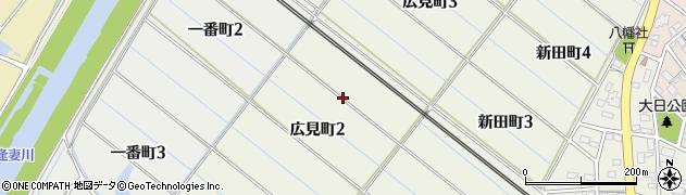 愛知県刈谷市広見町周辺の地図