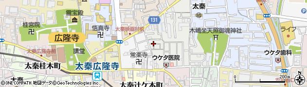 京都府京都市右京区太秦森ケ西町周辺の地図