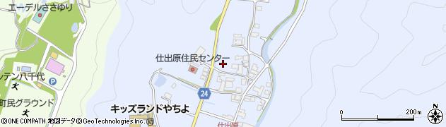 兵庫県多可町(多可郡)八千代区仕出原周辺の地図