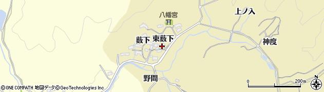 愛知県岡崎市丹坂町(東薮下)周辺の地図