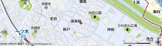 愛知県刈谷市一ツ木町(清水田)周辺の地図