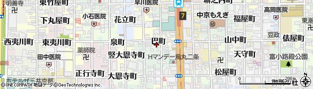京都府京都市中京区巴町周辺の地図