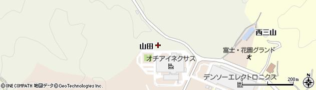 愛知県岡崎市奥山田町(山田)周辺の地図