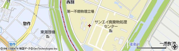 愛知県刈谷市泉田町(下中割)周辺の地図