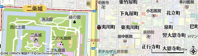 京都府京都市中京区西夷川町周辺の地図