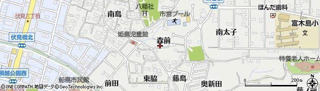 愛知県東海市富木島町(森前)周辺の地図