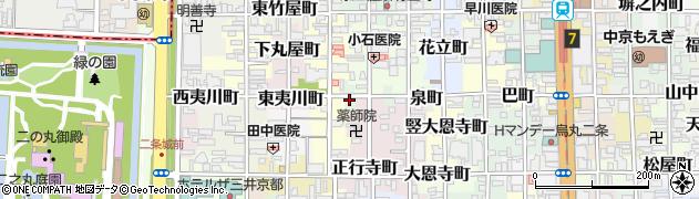 京都府京都市中京区泉町周辺の地図