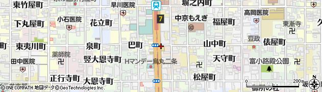 京都府京都市中京区西九軒町周辺の地図