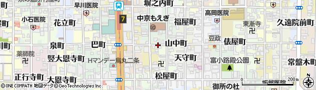 京都府京都市中京区山中町周辺の地図