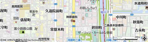 京都府京都市中京区指物町周辺の地図