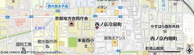 京都府京都市中京区西ノ京冷泉町周辺の地図
