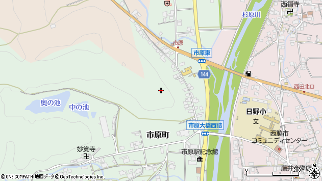 〒677-0004 兵庫県西脇市市原町の地図